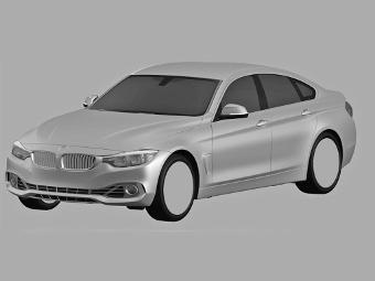 Компания BMW запатентовала дизайн четырехдверной «четверки»