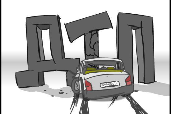В Смоленске в ДТП с такси пострадали три человека