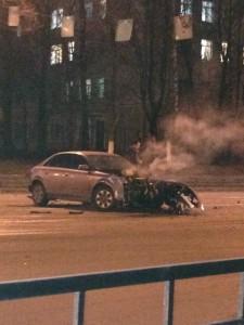 В Смоленске в ДТП на проспекте Гагарина пострадал водитель А6
