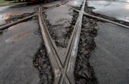 В Смоленске «забраковали» ремонт трамвайных путей около Камерного театра