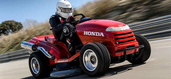 Honda создала самую быструю газонокосилку в мире