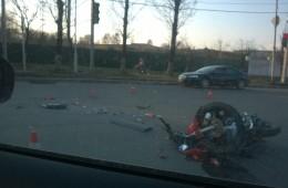 В Смоленске произошли серьезные аварии с участием мототранспорта