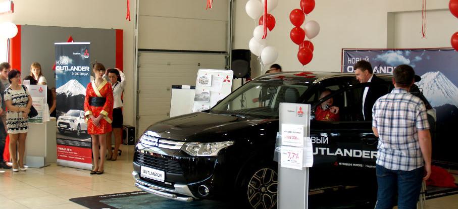 В Смоленске презентовали новый Mitsubishi Outlander.