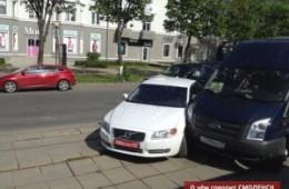 В Смоленске произошла авария с дипломатическим авто.