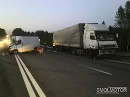 В Смоленской области в аварии с фурой пострадал человек