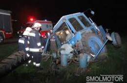 В Смоленской области произошло ДТП с участием трактора.