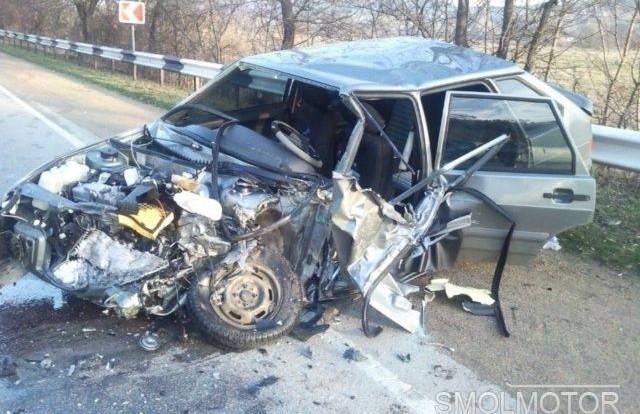В Смоленской области произошла авария с двумя фурами.