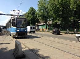 В Смоленске перекрыли движение трамваев.