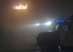 В Смоленске сгорел автосервис