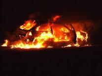 Утром в Смоленской области сгорела иномарка.