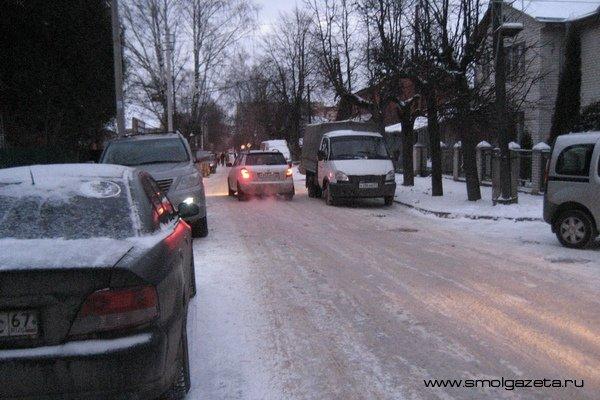 В Смоленске появилась ещё одна гололёдная магистраль