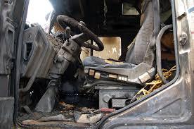 В Смоленской области сгорел грузовой автомобиль.
