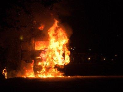 Водитель «Газели» погиб в горящей машине