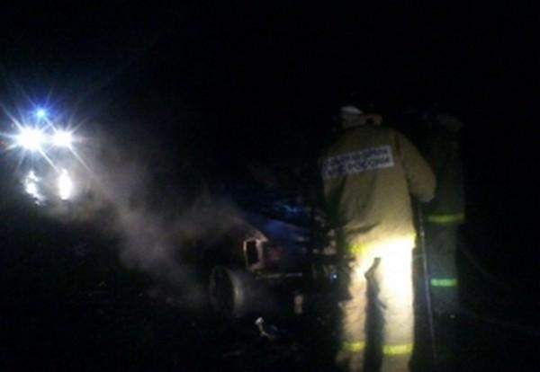 В Смоленске сгорел автомобиль