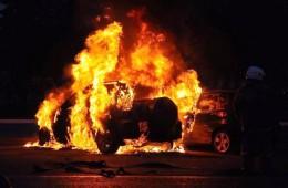 В микрорайоне Киселевка ночью сгорела иномарка.