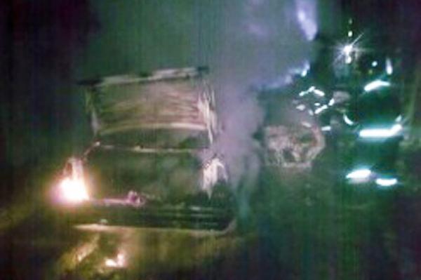 В Смоленске сгорел автомобиль ZAZ