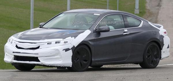 Honda вывела на тесты обновленное купе Accord