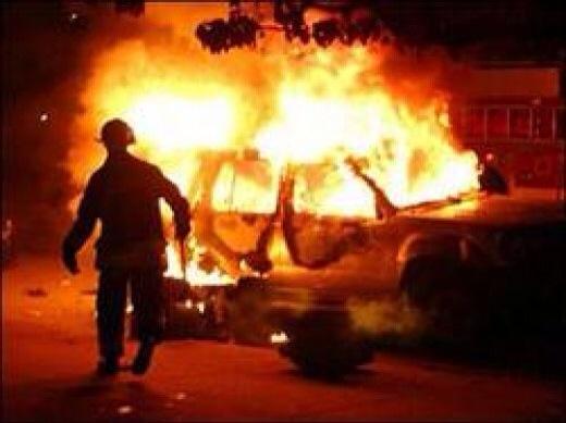 В Смоленске утром сгорела иномарка.