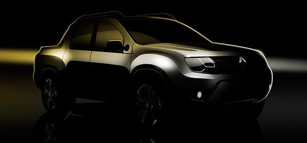 Renault показал первые изображения пикапа на базе Duster