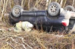 Под Смоленском «Лачетти» съехала в кювет. Водитель погиб, пассажир – в больнице