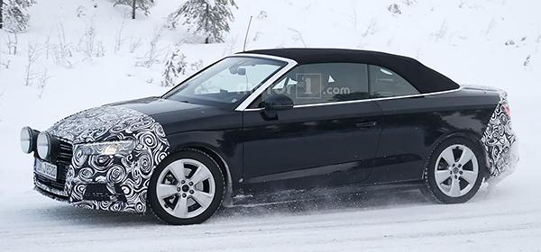 Audi приступила к испытаниям обновленного кабриолета A3