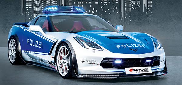 Chevrolet Corvette превратили в полицейский автомобиль