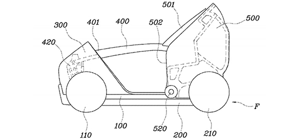 Hyundai запатентовал складной ситикар