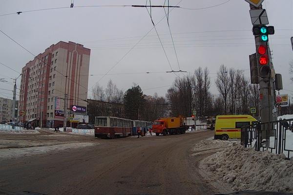В Смоленске снова было парализовано движение трамваев
