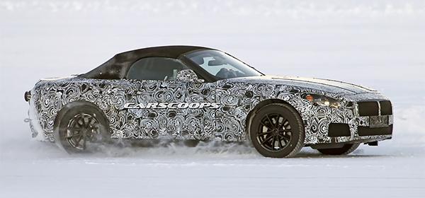 Новый BMW Z4 впервые замечен на тестах