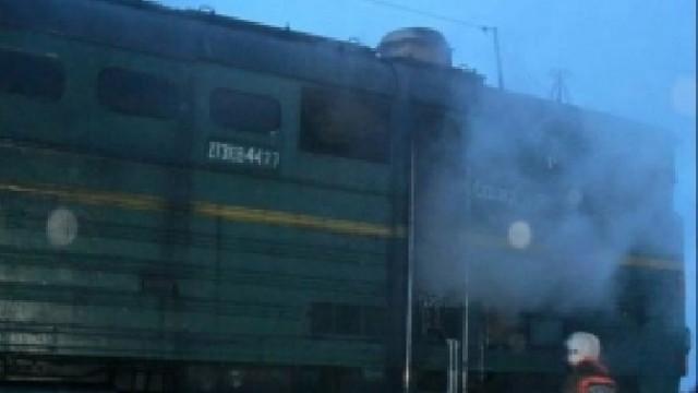 В Смоленской области загорелся тепловоз