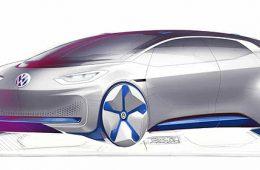 Volkswagen показал скетчи будущего электромобиля