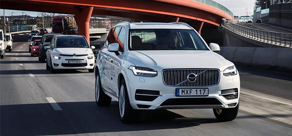 Volvo начала крупнейшие испытание беспилотных автомобилей