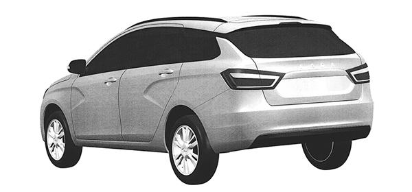 АвтоВАЗ запатентовал Lada Vesta в новом кузове