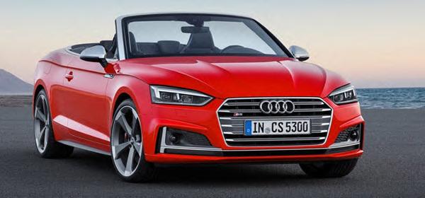Audi представила кабриолеты A5 и S5 нового поколения
