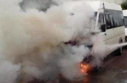 В Гагарине огонь уничтожил Мерседес
