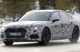 Audi A6 нового поколения впервые замечена на тестах