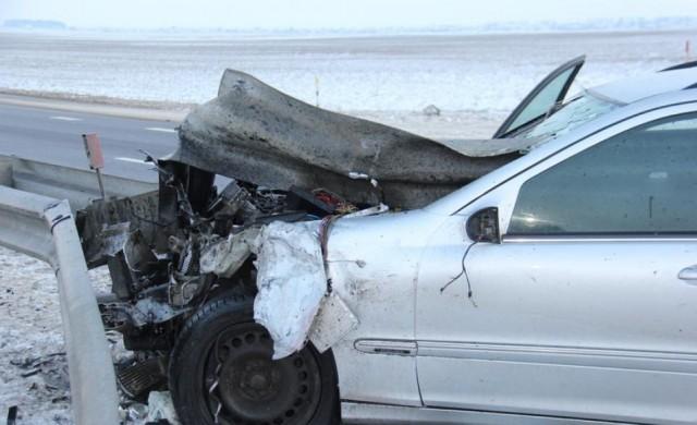 На Витебском шоссе загорелся автомобиль