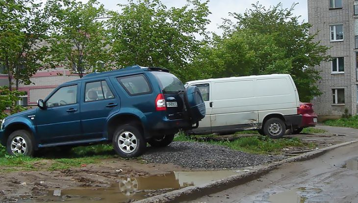 В Подмосковье заработал сервис для жалоб на парковку на газонах