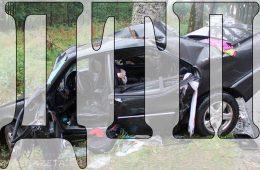 В Смоленском районе водитель на «Инфинити» опрокинулся в кювет
