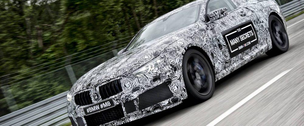 Гоночную BMW M8 показали в камуфляже
