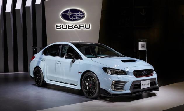 Subaru представила в Токио лимитированный седан WRX STI S208