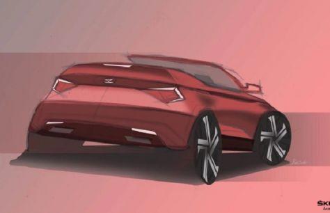 Представлен эскиз кросс-кабриолета Skoda Karoq