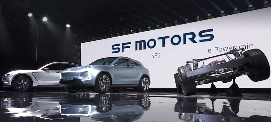 Фирма SF Motors представила два электрических кроссовера