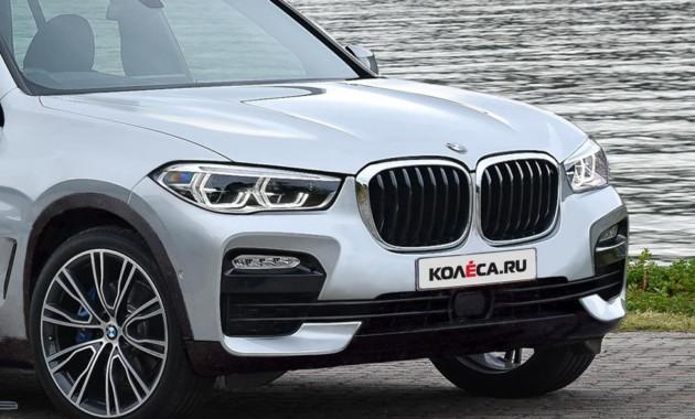 Новый BMW X5 появился на шпионских фотоснимках с меньшим камуфляжем