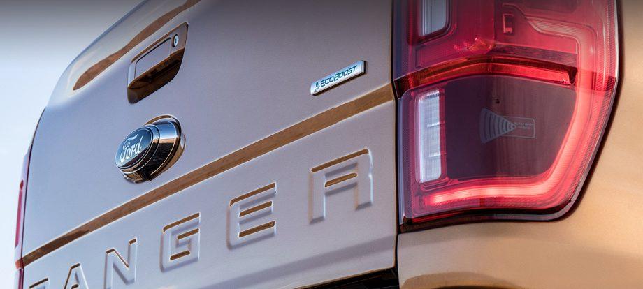 Пикап Ford Ranger проследит за пространством вокруг прицепа
