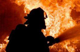 Иномарка BMW сгорела дотла в Сафонове