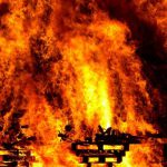 Ford Mondeo загорелся на трассе M-1 в Смоленской области