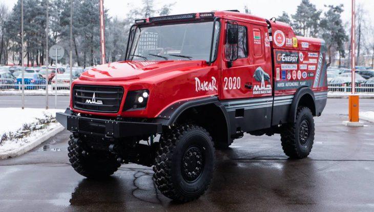 МАЗ представил новый капотный грузовик для ралли-рейдов