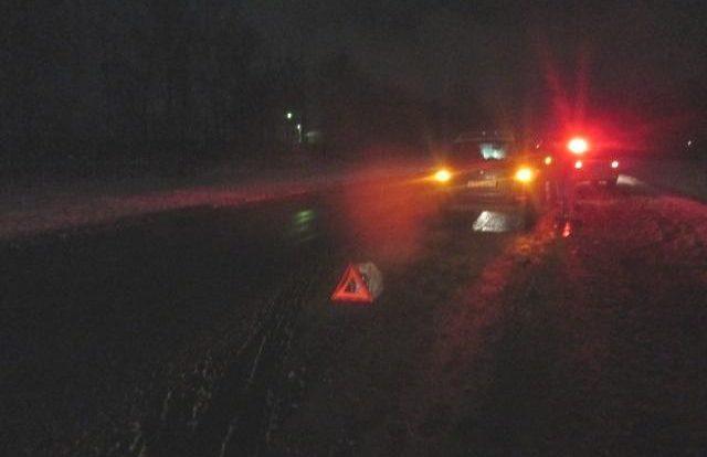 Водитель Lada Kalina попал в кювет и врезался в дерево в Смоленском районе