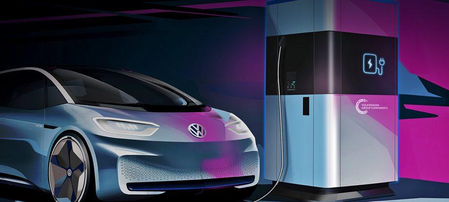 Группа Volkswagen распространит станции мобильной зарядки
